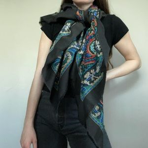 Vintage Made In Italy Colorful Blanket Scarf